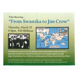 """From Swastika to Jim Crow"" Film flyer, 2010"