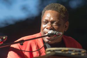 [Lucky Peterson performs at Denton Blues Festival] 3298: Denton Blues Festival, 2013