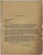 Letter: to Charles Henry Douglass, Jr., Macon, Georgia, 1927 Sept. 7