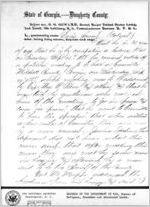 Affidavit of Davis Sneed: Albany, Georgia, 1868 Sept. 25