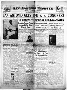 San Antonio Register (San Antonio, Tex.), Vol. 9, No. 42, Ed. 1 Friday, November 17, 1939 San Antonio Register