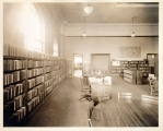 Hough Branch 1907: Carnegie building interior, children's room