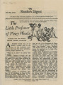 """The Reader's Digest: """"The Little Professor Of Piney Woods"""""""
