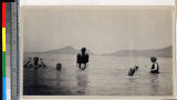 Missionaries bathing in the sea near Haizhou, Jiangsu, China, ca.1925
