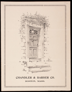 Chandler & Barber, door hardware, 122-126 Summer Street, Boston, Mass