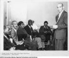 Golden Agers with negro legislator Representative James Hunter