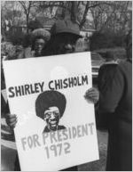 Campaigning for Shirley Chisholm