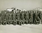 Group portrait of Tuskegee Airmen squadron