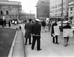 Cleveland public schools desegregation picketers