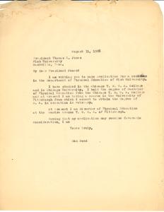 Bond, James, correspondence