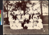 Missionary gathering, Shaoxing, Zhejiang, China, ca.1910