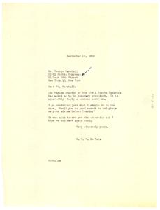 Civil Rights Congress press release