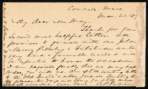 Letter from Alfred Porter Putnam, Concord, Mass., to Samuel May, Mar. 21, 1893