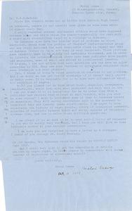 Aerogramme from Motoi Osawa to W. E. B. Du Bois
