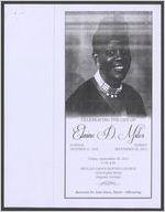 In loving memory celebrating the life of Elaine D. Miles, sunrise, October 11, 1955, sunset, September 20, 2012, Friday, September 28, 2012, 11:00 a.m., Beulah Grove Baptist Church, 1434 Poplar Street, Augusta, Georgia, Reverend Dr. Sam Davis, pastor, officiating