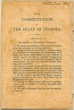 Constitution of the State of Georgia, 1861
