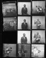 Set of negatives by Clinton Wright including Sarann's, Title V Summer Program party, Otis Harris and family, Elder Sanders, baseball trophy winners at Doolittle, and Reverend Bennett and family, 1968