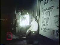 Series of WSB-TV newsfilm clips of street rioting, Savannah police headquarters, and a mass meeting attended by civil rights activists Andrew Young, James Bevel and Robert Spike, Savannah, Georgia, 1963