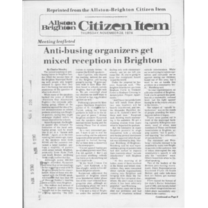 Allston Brighton Citizen Item, Thursday, November 28, 1974