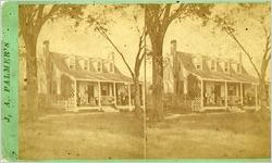 Stereoscopic view of a southern family on their front porch, circa 1880s