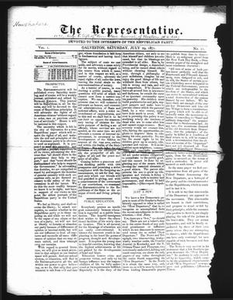 Thumbnail for The Representative. (Galveston, Tex.), Vol. 1, No. 11, Ed. 1 Saturday, July 29, 1871 The Representative