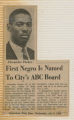 First Negro is named to city's ABC board