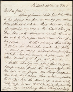 Letter from Edward Morris Davis, Philad[elphia], [Penn.], to Maria Weston Chapman, 12 mo[nth] 14 [day] 1847