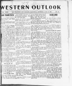 Western Outlook (San Francisco and Oakland, Calif.), Vol. 32, No. 40, Ed. 1 Saturday, June 12, 1926 The Western Outlook
