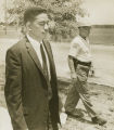 Dave Mack McGlathery at the University of Alabama in Huntsville, on the day he enrolled as the first African American student at the school.