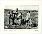 Pilar Law on her pony, with friends. Truchas, NM. 1970