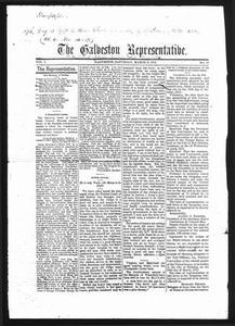 Thumbnail for The Galveston Representative. (Galveston, Tex.), Vol. 1, No. 14, Ed. 1 Saturday, March 9, 1872 The Representative