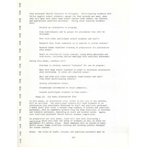 Metro ways to understanding, A plan for the voluntary elimination of racial and ethnic isolation in the schools of the Boston metropolitan area (3 of 3): Volume I
