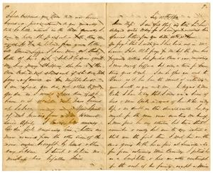 [Letter from David Fentress to his wife Clara, July 18, 1863] The David W. Fentress Family Letters, 1856-1969
