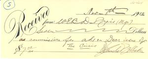 Receipt from W. E. B. Du Bois to NAACP