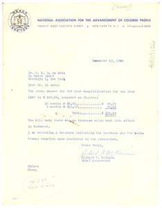 Letter from N.A.A.C.P. to W. E. B. Du Bois