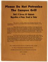 Please Do Not Patronize the Campus Grill