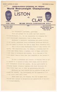 Document of biographical sketch of Bill MacDonald