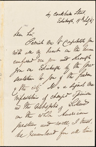 Letter from James Robie, Edinburgh, [Scotland], to William Lloyd Garrison, [18]67 July 19th