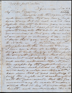 Letter from Samuel Joseph May, Syracuse, [N.Y.], to William Lloyd Garrison, Nov[ember] 23. 1851