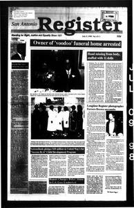 San Antonio Register (San Antonio, Tex.), Vol. 67, No. 3, Ed. 1 Thursday, July 9, 1998 San Antonio Register