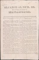 Alcance al num. 25. del Noticioso del Puerto de Matamoros