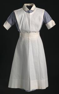 Nurse's uniform apron worn by Pauline Brown Payne