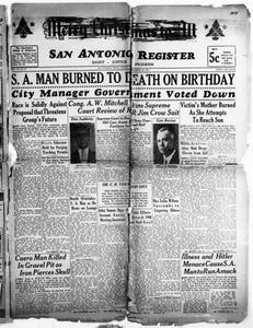 San Antonio Register (San Antonio, Tex.), Vol. 10, No. 47, Ed. 1 Friday, December 20, 1940 San Antonio Register