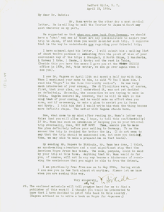 Letter from Y. Hikida to W. E. B. Du Bois