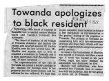 Newspaper article regarding Towanda apology to black resident