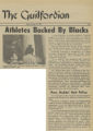 Athletes Backed by Blacks