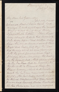 Letter from E. Mardson, Harrogate, [England], to William Lloyd Garrison, July 20 1869