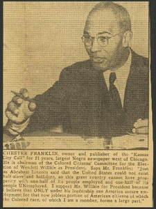 Article about Chester A. Franklin
