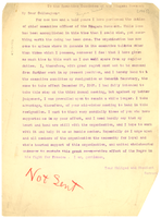 Letter from W. E. B. Du Bois to Executive Committee of the Niagara Movement