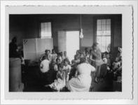 Photograph of African American students in a classroom, Habersham County, Georgia, 1953